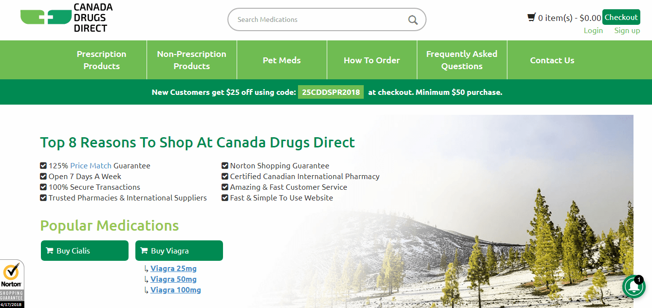 Canada Drugs Direct Homepage