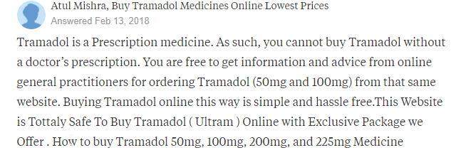 Purchasing Tramadol on the Web