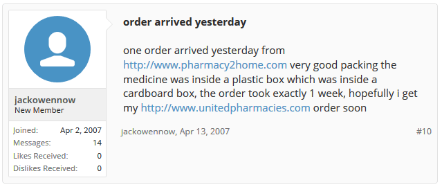 Pharmacy 2 Home Forum Discussion