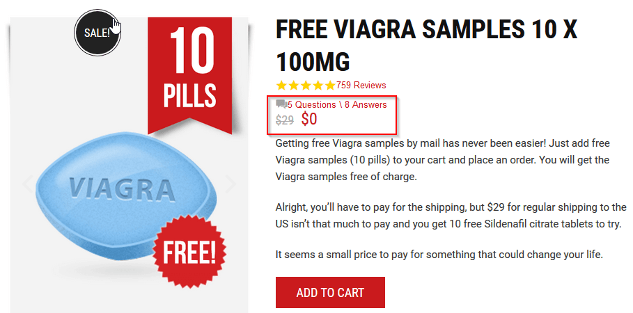 Free Viagra Samples Offer