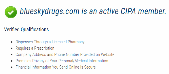 Blue Sky Drugs is an Active Member of CIPA