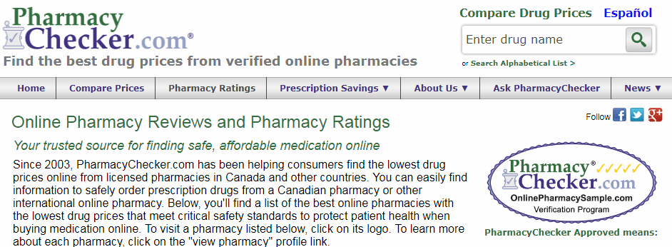 Pharmacy Checker Pharmacy Ratings