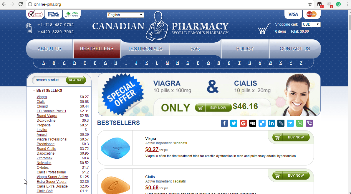 Online Pills – Top-Rated Canadian Pharmacy