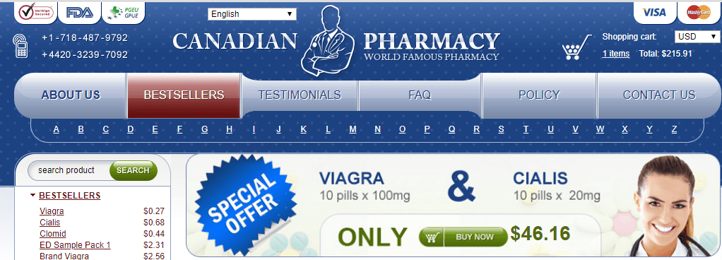 Photo of one of the Canadian Online Pharmacies